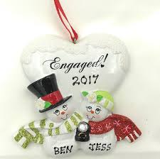 blank ornaments to personalize personalized engaged christmas gift