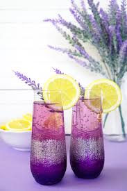 purple cocktail lavender lemonade prosecco cocktail happiness is homemade