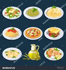 a à z cuisine different food cuisine pasta pizza เวกเตอร สต อก 658823398