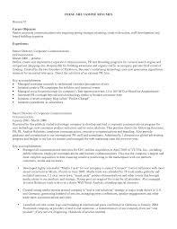 sample resume objective