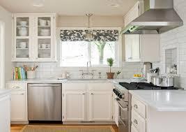 Curtain For Kitchen Designs Furniture Small White Kitchen With L Shaped White Kitchen