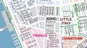 Little Italy New York Map by Soho New York Map New York Map