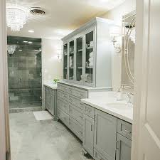 French Bathroom Cabinet by Gray Wash Bath Vanity Cabinets With Gray Marble Diamond Floor
