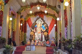 Home Temple Decoration by Ganpati Decoration Ideas At Home Images With Flowers Photo