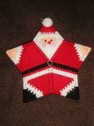 pc star santa plastic canvas star and canvases