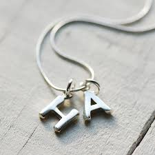 initials necklace silver chunky silver initial necklace by highland angel
