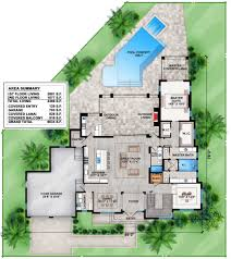 Florida Home Plans With Pictures Plan 86022bw Contemporary House Plan With Upstairs And Downstairs