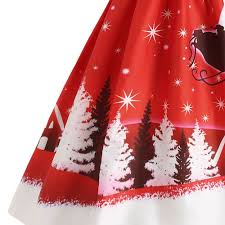 vintage christmas cocktail party gamiss women autumn winter vintage christmas evening dress santa
