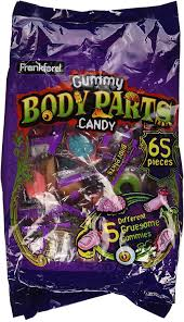 amazon com frankford gummy body parts candy 65 pieces halloween
