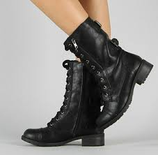 buy combat boots womens combat boot motorcycle lace buckle zipper soda