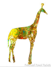 flower painting giraffes preschool art preschool powol packets