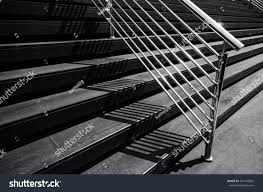 city outdoor stairslight shadow black white stock photo 594145883