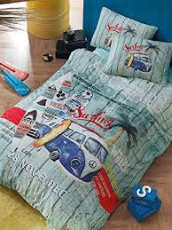 Surfing Bedding Sets Bekata Surfer 100 Cotton Nautical Bedding Set