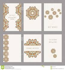 Editable Wedding Invitation Cards Set Of Vintage Cards Templates Editable Stock Vector Image
