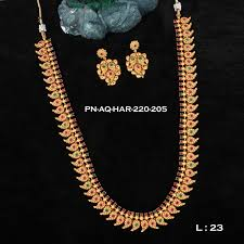 antique necklace images Antique mango ruby emerald moif haram designer necklace set fb0103 jpg