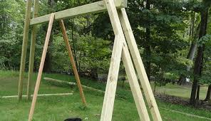 Swings For Backyard How I Built My Own Backyard Swing Set U2013 Part 2