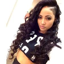 long hair at the front shaved at the back black lace front wig unprocessed thick and soft tangle free