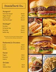 fast food menu design templates 28 images fast food menu