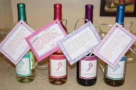 host gift baby shower hostess gift barefoot wine with a cute little saying
