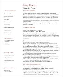 Experience Resume Templates Security Guard Resume 5 Free Sample Example Format Free