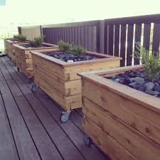 elevated garden bed on wheels home outdoor decoration