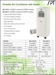 10000 btu portable air conditioner heat pump small room slim ac