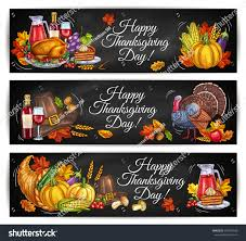happy thanksgiving in espanol happy thanksgiving day greeting banners traditional stock vector