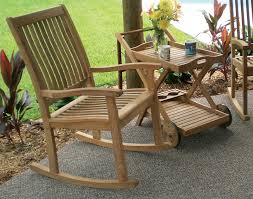 teak highback rocking chair