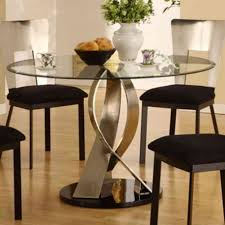 Glass Top Pedestal Dining Room Tables by Round Glass Top Dining Table Sets Home And Furniture