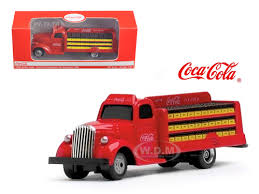 coca cola delivery bottle truck 1 87 ho scale diecast model