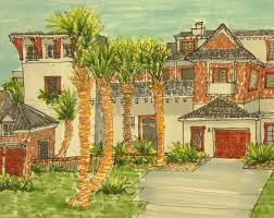 Florida Home Decorating Sheilas Project Interior Design 2 Living Home Perspective Drawing