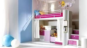 chambre fille lit mezzanine decoration chambre fille avec lit