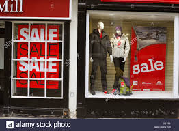 window posters boxing day sale posters in a shop window stock photo 41779473 alamy