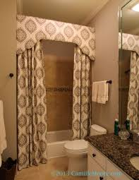 Custom Bathroom Shower Curtains Shower Curtain With Cornice Design By Lori Paranjape Fabrication