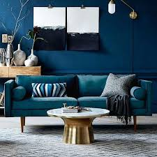 canap bleu p trole salon bleu petrole best idee deco salon peinture fabulous idee