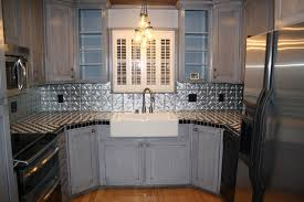 tin backsplash kitchen backsplashes contemporary kitchen - Tin Backsplashes For Kitchens