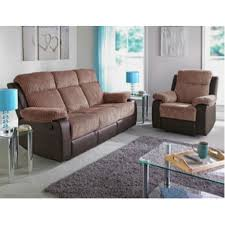 Fabric Sofa Recliners by Bradley Large Fabric Recliner Sofa Natural Furnico Village