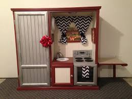 diy play kitchen ideas entertainment center kitchen i made my daughter for christmas