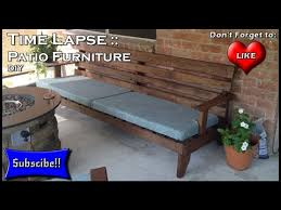 Build Patio Table How To Build Patio Furniture Time Lapse