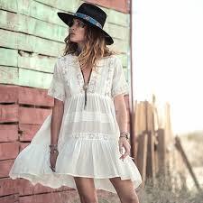 aliexpress com buy casual loose fit summer dress women white