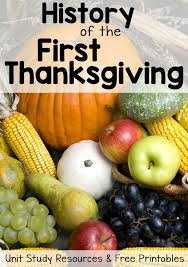 history of thanksgiving free printables and unit study resources
