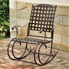 Metal Rocking Patio Chairs Patio Wrought Iron Metal Rocking Chair Antique High Back