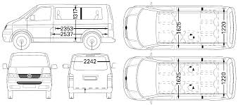volkswagen bus drawing car blueprints volkswagen multivan blueprints vector drawings