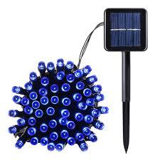 solar powered fairy lights for trees blue color solar powered christmas string lights 100 led 39ft 8