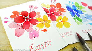 handmade watercolor cards watercolor floral invitations diy handmade cards level 2