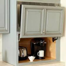 Cabinet Garage Door Kitchen Appliance Storage Ideas Appliance Garage Doors And Spaces