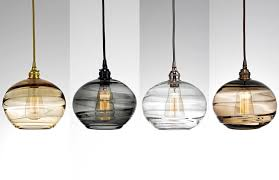 custom blown glass pendant lights artisan blown glass lighting hammerton studio