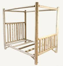 Forest Canopy Bed Cedar Log Beds With Canopies Top Off Your Log Bed With A