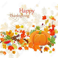 happy thanksgiving day celebration flyer background with autumn