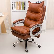 Real Leather Office Chair Genuine Leather Luxurious And Comfortable Home Office Chair